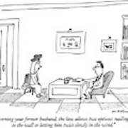 Concerning Your Former Husband Art Print