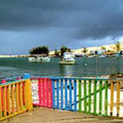 Conch Boats Arriving Art Print