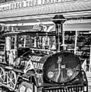 Conch Tour Train 1 Key West - Black And White Art Print
