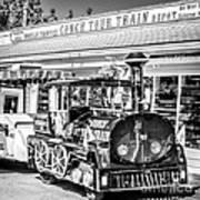 Conch Tour Train 2 Key West - Square - Black And White Art Print