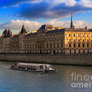 Conciergerie And The Seine River Paris Art Print
