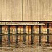 Concrete Wall And Water 1 Art Print