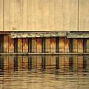 Concrete Wall And Water 2 Art Print