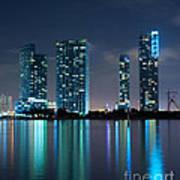 Condominium Buildings In Miami Art Print