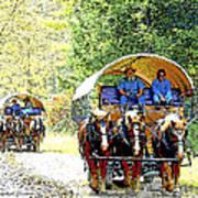 Conestoga Wagons Art Print