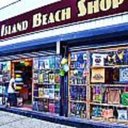 Coney Island Beach Shop Art Print
