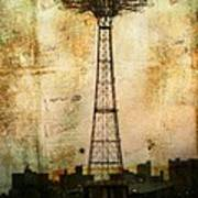 Coney Island Eiffel Tower Art Print