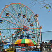 Coney Island Wonder Wheel Art Print