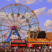 Coney Island Wonder Wheel Art Print