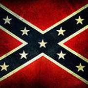 Confederate Flag 4 Art Print
