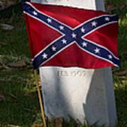 Confederate Grave   #2823 Art Print
