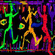 Confetti Marionettes Art Print