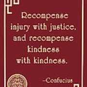 Confucius On Kindness Art Print