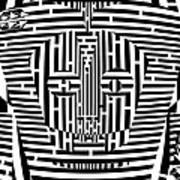 Confused Mask Maze  Art Print