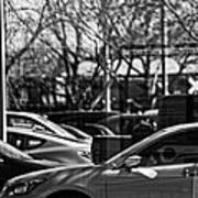 Confusing Commuter Reflections Art Print