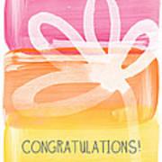 Congratulations- Greeting Card Art Print by Linda Woods