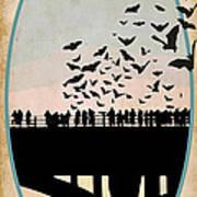 Congress Avenue Bridge Bats Art Print