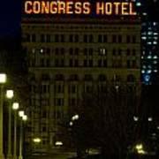 Congress Hotel In Chicago Art Print