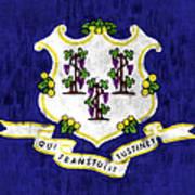 Connecticut Flag Art Print