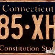 Connecticut License Plate Art Print