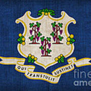Connecticut State Flag Print by Pixel Chimp