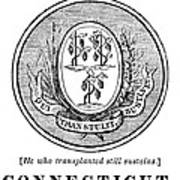 Connecticut State Seal Art Print