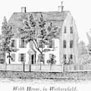 Connecticut Webb House Art Print
