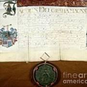 Constantijn Huygens Knighthood 1622 Art Print