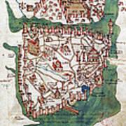 Constantinople, 1420 Art Print