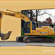 Construction Equipment 01 Art Print