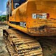 Construction Excavator In Hdr 1 Art Print