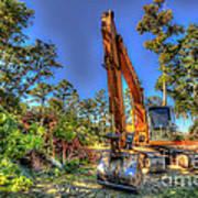 Construction Site Art Print