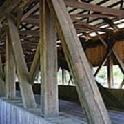 Construction Under The Roof - Jackson Covered Bridge Nh Art Print