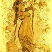Consultation In Sepia Art Print