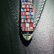 Container Ship Bow Art Print