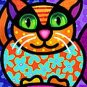 Contented Cat Art Print