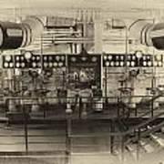 Control Board Engine Room Queen Mary Ocean Liner Long Beach Ca Heirloom Art Print