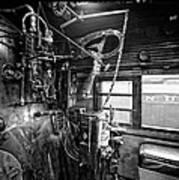 Controls Of Steam Locomotive No. 611 C. 1950 Art Print