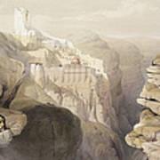 Convent Of St. Saba, April 4th 1839 Art Print