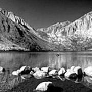 Convict Lake Pano In Black And White Art Print