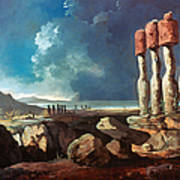 Cook: Easter Island, 1774 Art Print