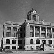 Cooke County Courthouse Bw Art Print