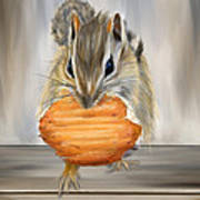 Cookie Time- Squirrel Eating A Cookie Art Print