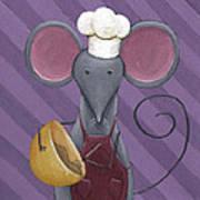 Cooking Mouse Kitchen Art Art Print