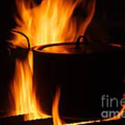 Cooking Pot On Fire Finland Art Print