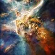 Cool Carina Nebula Pillar 4 Art Print by Jennifer Rondinelli Reilly - Fine Art Photography
