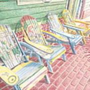 Cool Chairs Art Print