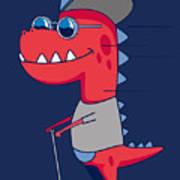 Cool Dinosaur Character Design Art Print