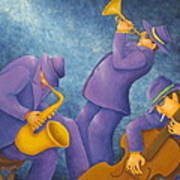 Cool Jazz Trio Art Print