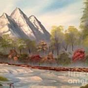 Cool Mountain River Art Print